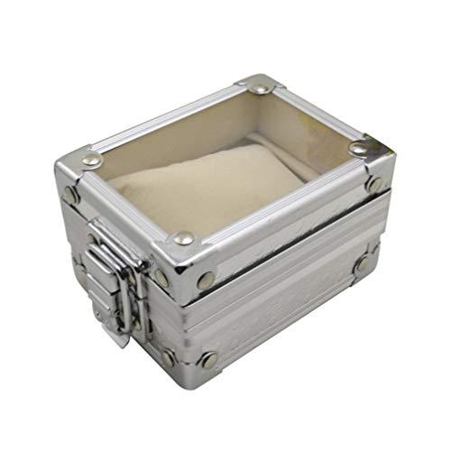 ibasenice 1 stück uhrenbox langlebig display transparent deckel taschenuhr fall armband veranstalter schmuck halter geschenkbox für shop zu hause