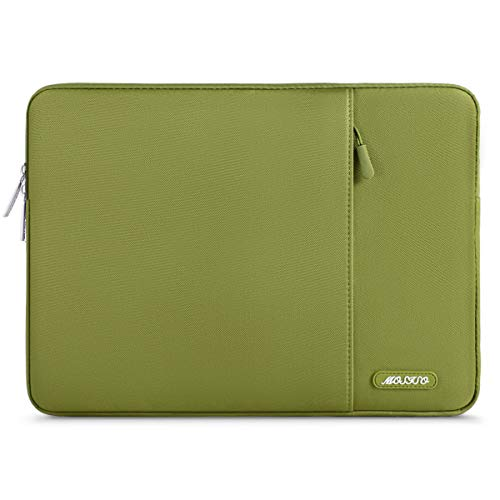 MOSISO Laptophülle Kompatibel 13-13,3 Zoll MacBook Air, MacBook Pro, Notebook Computer, Polyester Wasserabweisend Vertikale Stil Sleeve Hülle Schutzhülle Laptoptasche Notebooktasche, Chartreuse