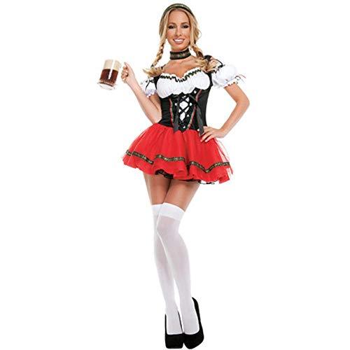 Circlefly Ladies Fun Game Uniformen europäischen und amerikanischen Party Maids Anzüge Rotkäppchen Halloween-Kostüme (Games Fun Halloween-party)