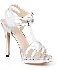 Top Sandali Scarpe da Donna Tacco Alto Pumps Lacci 2612 NERO 40