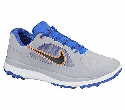 Nike Bewegungsfreiheit ohne Spikes Golf Schuhe wasserdicht Flywire - Wolf Grau/Schwarz/Hyper Cobalt - EU 44