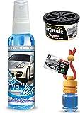 New Car Lufterfrischer Duftset: 1 x Air Natur Duftflakon 6ml + 1 Organic Scent Pad Duftdose + 1 Fresh New Car Duftspray 60ml