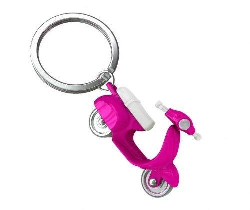 3d rosa Scooter portachiavi con maniglie e ruote da Metalmorphose