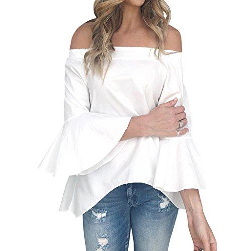 SANFASHION Bekleidung SANFASHION Damen Shirt155, Ballerine Donna Multicolore Multicolore Bianco XL