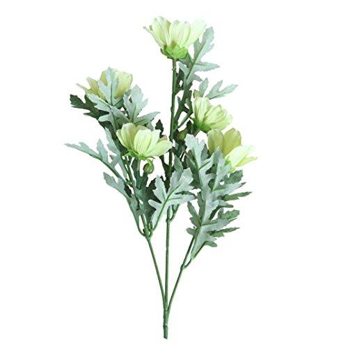 siconght 5Köpfe Künstliche Seide Fake Daisy Chrysanthemum Blumen Knospe Floral Hochzeit Home Office Decor -