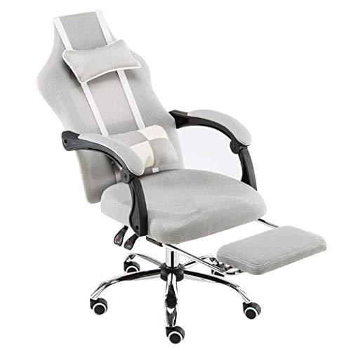 Chaise de Bureau/Chaise de Direction/Chaise Boss, Chaise pivotante Ergonomique, Design inclinable, avec Repose-Pieds, Technologie Body Balance/réduire la Fatigue, Facile à Monter (Gris)