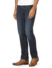 J By Jasper Conran Men Big and Tall Mid Blue Washed Slim Fit Jeans