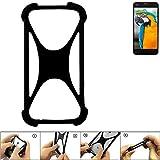 K-S-Trade Handyhülle Vestel V3 5040 Silikon Schutz Hülle Cover Case Bumper Silikoncase TPU Softcase Schutzhülle Smartphone Stoßschutz, schwarz (1x)