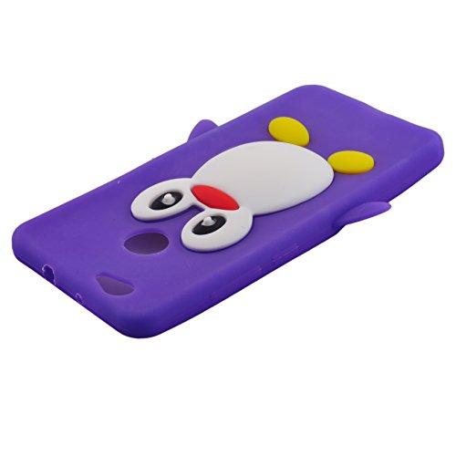 Voguecase® Pour Apple iPhone 7 Plus 5,5, TPU avec Absorption de Choc, Etui Silicone Souple, Légère / Ajustement Parfait Coque Shell Housse Cover pour iPhone 7 Plus 5,5 (Panda-Noir)+ Gratuit stylet l'é Penguin-Pourpre