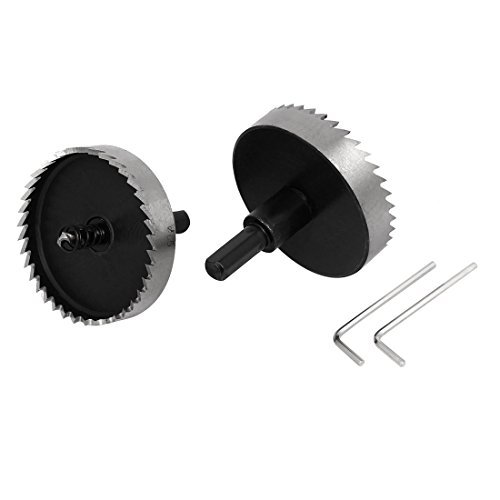 eDealMax 65mm Durchmesser, 70 mm lang, HSS à ressort Twist Forets Scies 2 Stück -