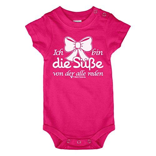 Babybody - Baby Body - Geburt - Ich bin die Süße von der alle reden - Mit diesem coolen Babyspruch, auf einem farbenfrohen Babybody gedruckt. verschiedene Grössen ein ideales Geburtsgeschenk (80 - 86)