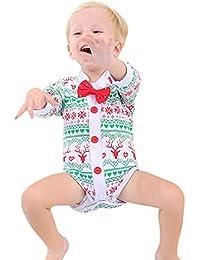 ALISIAM Winter Weihnachten Schwarzer Freitag Cyber Monday Baby Unisex schön weich Hautfreundlich Warm halten Drucken Lange Ärmel Passen Kriechender Anzug Strampelhöschen