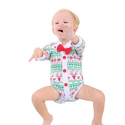 (ALISIAM Winter Weihnachten Schwarzer Freitag Cyber Monday Baby Unisex schön weich Hautfreundlich Warm halten Drucken Lange Ärmel Passen Kriechender Anzug Strampelhöschen)