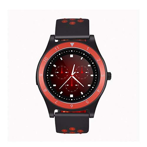 WJSEIF Sportuhr Smart Watch2G GSM Sport Armbanduhr Fitness Tracker Bluetooth Uhr Unterstützung SIM-Karte TF-Karte für Huawei XIAOMI, schwarz rot -