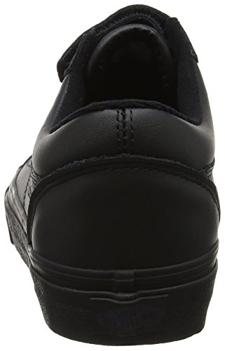 Vans Old Skool V, Scarpe Running Unisex-Adulto Nero (Blackmono Leather)