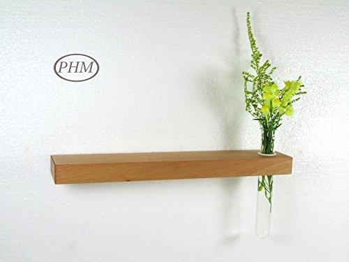 Mini Wandregal mit Vase Buche 30 cm