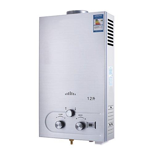 OldFe Scaldabagno A Gas 12lt Ae Metano Scaldabagno Istantaneo A Gas Con Digitale LCD Scaldabagno Automatico E Rapidamente