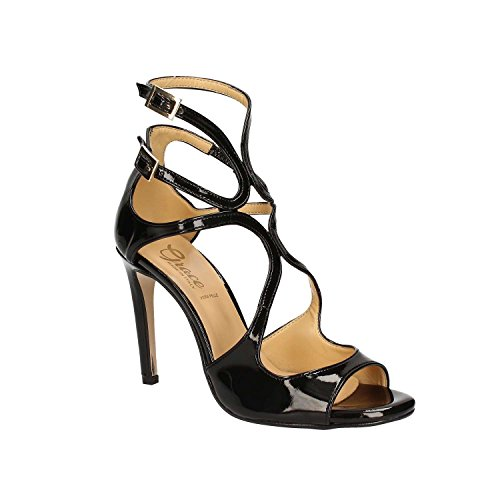 GRACE SHOES 9654 Sandalo tacco Donna Nero