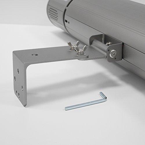 VASNER Appino BEATZZ Grau Grey Infrarotstrahler dimmbar 2000 Watt mit Bluetooth, LED Backlight Licht, Musik-Lautsprecher Außenbereich - 7