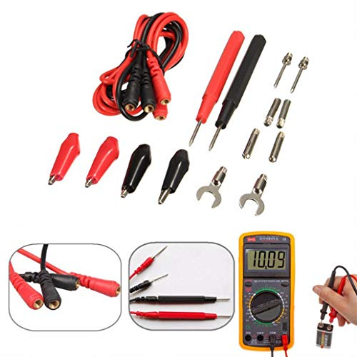 perlo33ER 16Pcs Kit Universal Multifunktions Digital Messkabel Multimeter Sondenkabelsatz