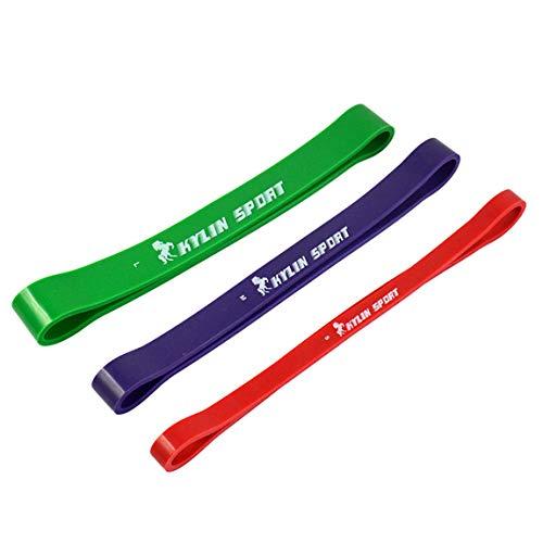 Naturlatex-Widerstandsschlaufenbänder Fitness-Übungsband zur Verbesserung der Beweglichkeit und Kraft, für Yoga, Pilates oder für die Rehabilitation nach Verletzungen. Crossfit-Klimmzugtraining (Rot)