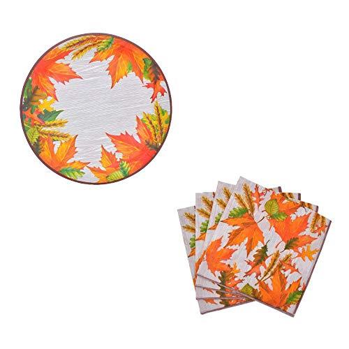 iving Dekorative Papier Teller und Serviette Set Blätter ()
