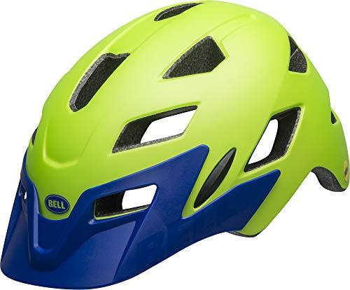 BELL Unisex Jugend SIDETRACK Child Fahrradhelm, mat Bright Green/Blue, Unisize
