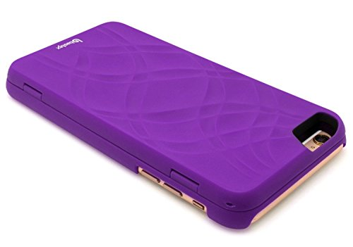 iPhone 6Plus/6S Plus Coque, bastex cachée arrière miroir Étui portefeuille avec fonction support et porte-cartes pour Apple iPhone 6Plus, 6S Plus 14cm-Violet
