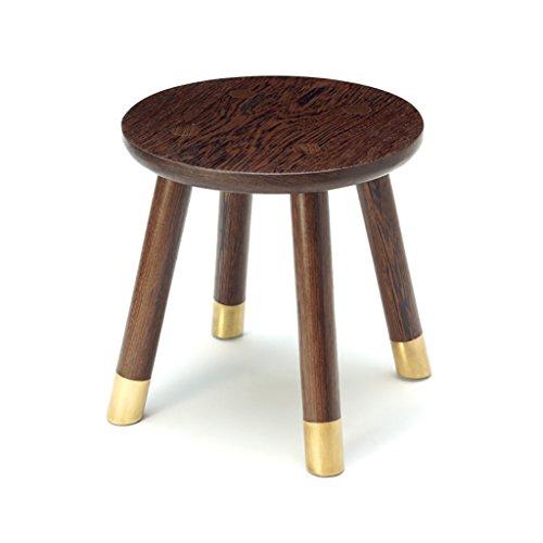 XIAOLVSHANGHANG HHCS Hähnchenflügel Holz Kupfer Füße Kleine Runde Hocker Mahagoni Hausgarten Tisch Hocker Kinder Modern Minimalist Bank Massivholz Hocker & Stühle (größe : #3) -