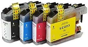 4Haute Capacité Cartouches d'encre Compatible avec imprimante Brother lc-223Multipack pour Brother dcp-j4120dw, MFC-J4420DW, MFC-J4620DW, MFC-J4625DW, mfc-j5320dw, mfc-j5620dw, mfc-j5625dw, mfc-j5720dw BVH Direct pour remplacer Brother LC 223Noir/cyan/magenta/jaune