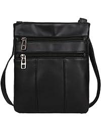 Tomtopp Women Messenger Bags PU Leather Zipper Crossbody Shoulder Satchel Handbags