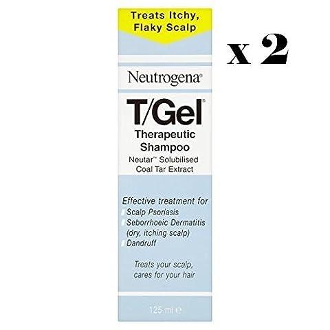 Neutrogena T/Gel Shampooing thérapeutique Traitement pour le Psoriasis du cuir chevelu et les démangeaisons du cuir chevelu et les pellicules 125ml x 2* * * * * * * * * * * * * * * * LIVRAISON GRATUITE * * * * * * * * * * * * * * * *