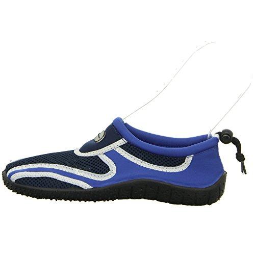Sneakers DB2012023 Damen Leinen Slipper/Kletthalbschuh Blau (Blau)