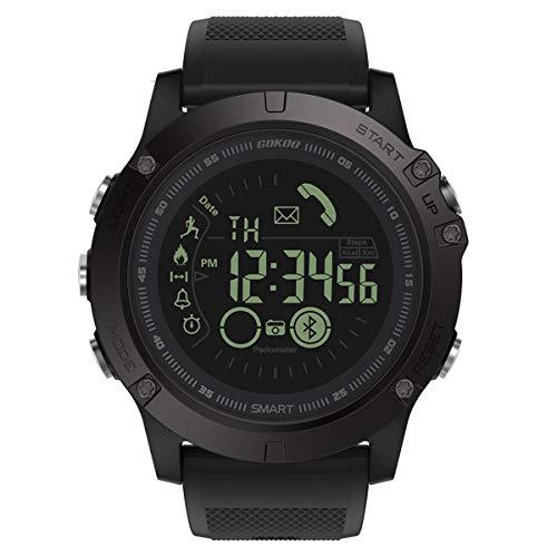 Herren Smartwatch GOKOO S10 Smart Uhr Stylische Sport Smartwatch Herren Männer Jungen Digital Outdoor Sport mit Schrittzähler Kalorienzähler und Informationserinnerung für Android und IOS Smartphone