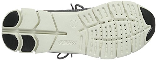 Geox D Sukie B, Scarpe da Ginnastica Basse Donna Grau (Dk GREY/SILVERC0710)