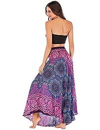 Rcool Falda Corta Faldas Faldas Mujer Invierno Faldas largas Falda Flamenca Mujer,Hippie Largo Bohemio