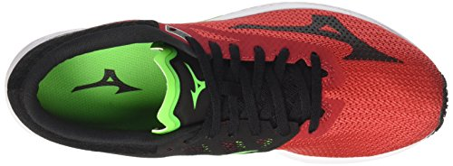 Mizuno Wave Sonic, Chaussures de Running Homme Multicolore (Formulaone/black/greenslime 13)