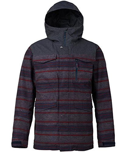 Burton Herren Covert Jacket Snowboardjacke, Denim/Faded Motor City Print, M