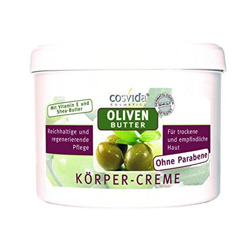 Butter Körper-creme (cosvida Olivenbutter Körpercreme 500 ml  Hautcreme ohne Parabene)