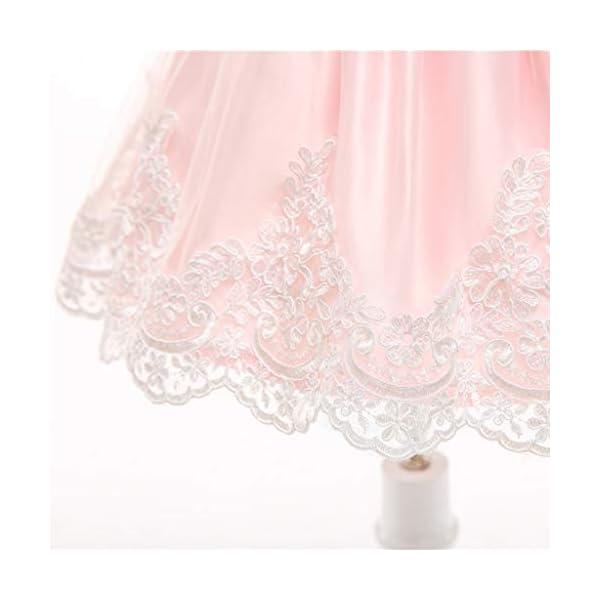 YGbuy Vestido de Novia de Encaje Bordado sin Mangas para Niñas Vestido de Princesa Vestido de Falda + Conjunto de… 5
