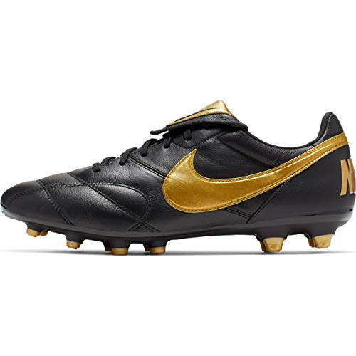 Nike The Premier II Fg, Scarpe da Calcetto Indoor Unisex-Adulto, Multicolore Mtlc Vivid Gold/Black 000, 44 EU