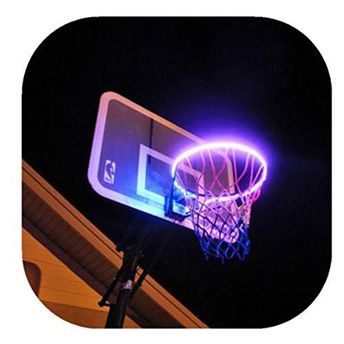 happy event Hoop Light | LED beleuchtete Basketballfelgenbefestigung | Hilft Ihnen, nachts Reifen zu schießen - Nacht Reifen