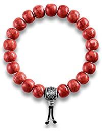 Thomas Sabo Men Women Power Bracelet Ethnic Red  Rebel at heart 925 Sterling silver Length 19.5 cm A1705-062-10-L19,5