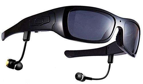 DCCN Bluetoothe Kamera Brille Cam polarisierte Sonnenbrille mit Kamera UV400 Stereo Bluetooth Headset Kopfhörer für iPhone/Android Handy für Radfahren Motorad Bike