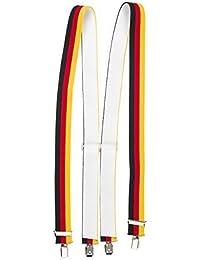 shenky - Bretelles en X - 4 pinces résistantes - couleurs de l Allemagne 44611c08b9f