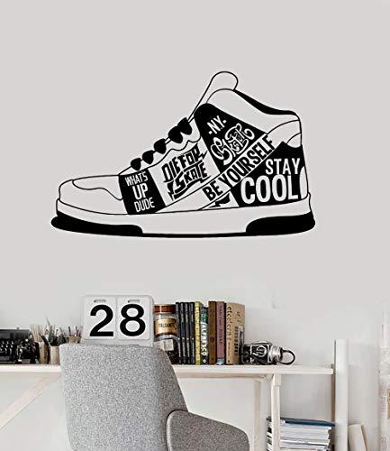 89 cm x 56 cm Kreative Turnschuhe Wandaufkleber Vinyl Aufkleber Urban Style Quote Teen Zimmer Aufkleber Removable Modern Stylish Home Decor LA955 (Universum Turnschuhe)