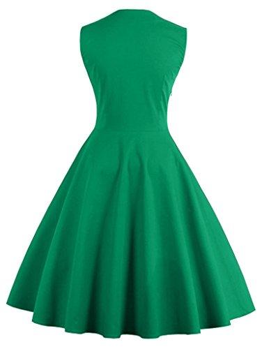 Smile YKK Klassisches Design 80er Damen Plissee Kleid Vintage Kleid Party Kleid Cocktailkleid Knielang Grün
