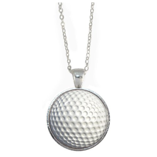 silver-plated-chain-necklace-with-golf-ball-design-pendant