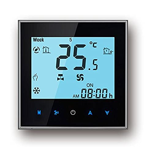 Wifi Thermostat, Arxus Wifi contrôle écran tactile LCD 2/4-pipe Thermostat programmable pour central Air Conditioner