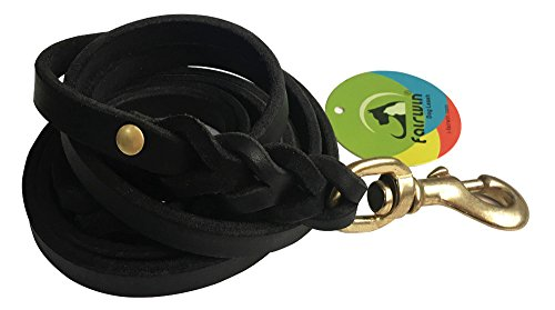 Fairwin-Braided-Leather-Dog-Lead-17M-Military-Grade-Genuine-Leather-Dog-Training-Lead-for-Large-Medium-Small-Dogs-Width19cmBlack